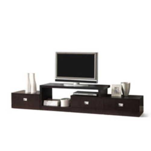Baxton Studio S Marconi Brown Asymmetrical Modern Tv Stand