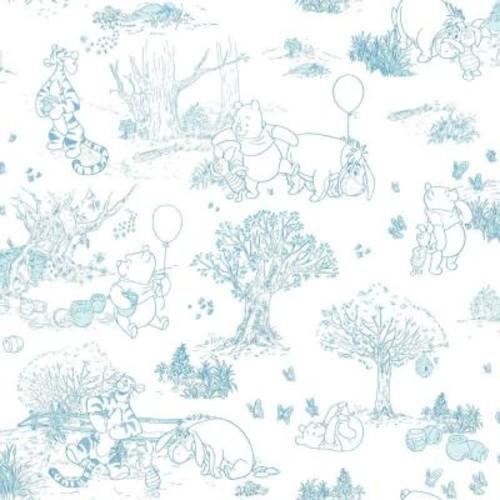 York Wallcoverings Walt Disney Kids II Pooh and Friends Toile Wallpaper