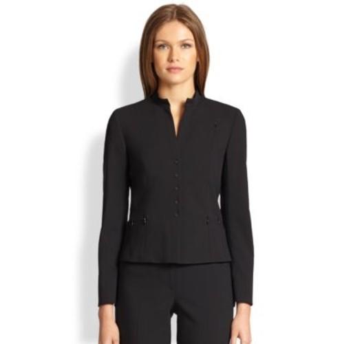 AKRIS PUNTO Elements Wool Zipper-Detail Jacket