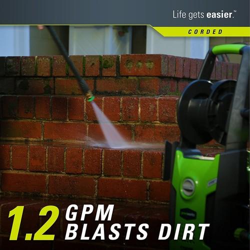 Greenworks 1,700 PSI 1.2GPM Electric Pressure Washer with Turbo Nozzle + Bonus 11