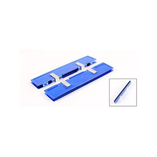 2 Pcs Blue Aluminum Heatsink Shim Cooler for DDR RAM Memory
