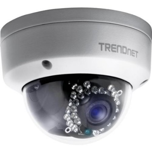 TRENDnet Outdoor 1.3 MP HD PoE IR Dome Network Surveillance Camera, TV-IP321PI