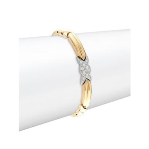 Estate Jewelry Collection - Tiffany & Co. Diamond & 18K Yellow Gold Bracelet