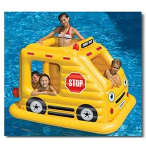 Blue Wave Swimming Pool Kids Bus Habitat Inflatable Float