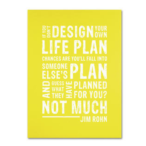 Trademark Global Design Your Own Life II by Megan Romo Textual Art on Wrapped Canvas Size: 19