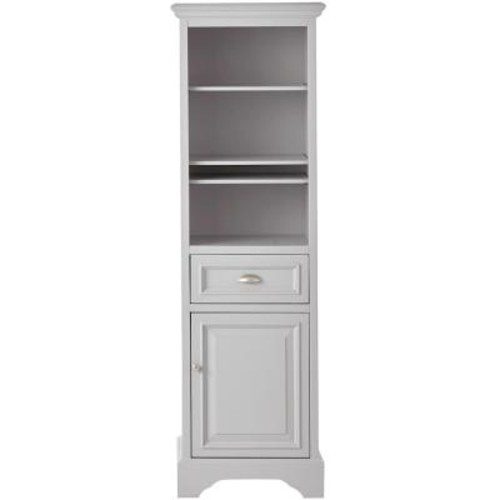 Home Decorators Collection Sadie 20 in. W x 64-1/2 in. H x 14 in. D Bathroom Linen Storage Cabinet in Dove Grey