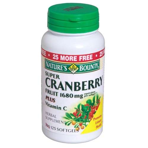 Nature's Bounty Cranberry Frt+C Softgels 100 Count