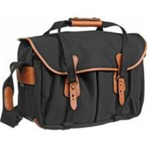 Billingham 445 SLR Camera Shoulder Bag - Black with Tan Trim