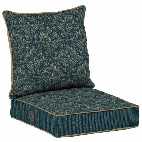 Bombay Outdoors Royal Zanzibar Medallion Adjustable Comfort Reversible Deep Seat Chair Cushion Set