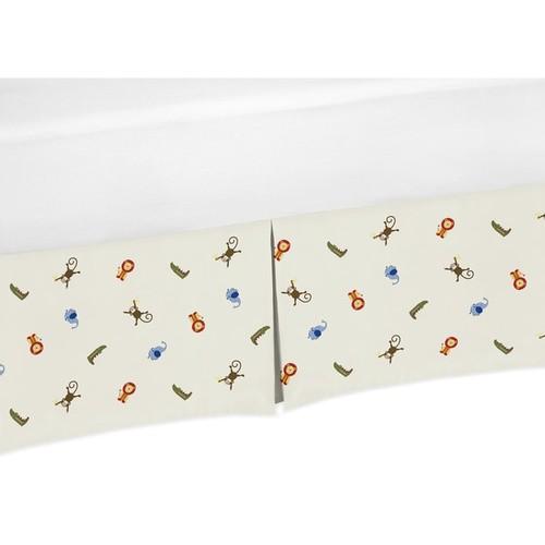 Sweet Jojo Designs Jungle Time Collection Animal Print Crib Bed Skirt