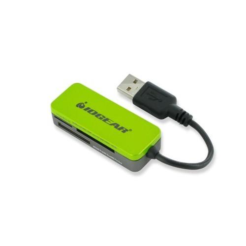 IOGEAR 12-in-1 USB 2.0 Pocket Flash Memory Card Reader/Writer, GFR209,