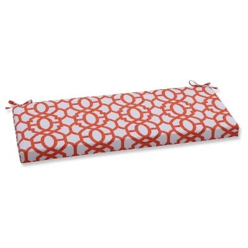 Pillow Perfect Outdoor/ Indoor Nunu Geo Bench Cushion - Orange