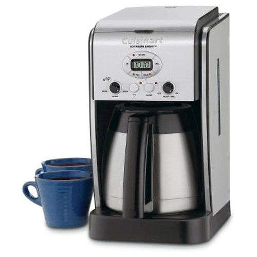Cuisinart Extreme Brew DCC-2750 Brewer - Programmable - 10 Cup(s) - Coffee Strength Setting - Silver - Stainless Steel, Charcoal, ABS Plastic