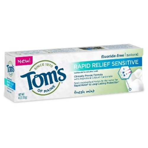 Tom's of Maine Rapid Relief Sensitive Mint Natural Toothpaste - 4oz