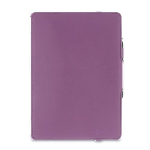 iPad Air 1 Case - roocase Slim-Fit Folio iPad Air 2013 PU Leather Folio Stand Case Smart Cover (Supports Auto Sleep/Wake) for Apple iPad Air 1 (2013) 5th Generation, Purple