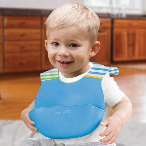 Summer Infant Blue Deluxe Bibbity Rinse and Roll Bib