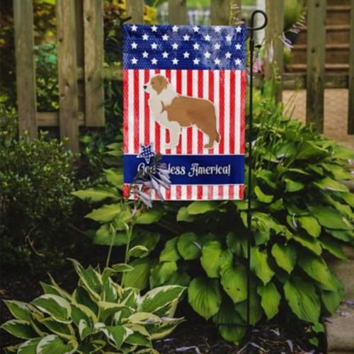 Caroline's Treasures Patriotic USA Border Collie 2-Sided Garden Flag