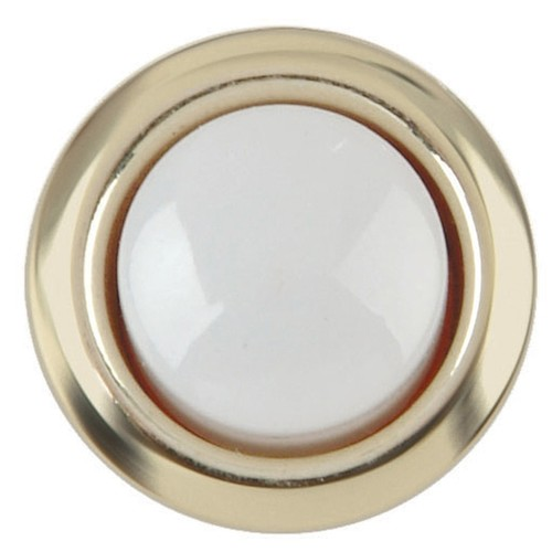 Carlon Lamson and Sessons DH1202 8-24V Gold Rim Lighted Wired Round Push Doorbell Button