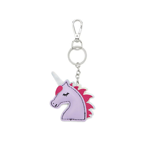Faux Leather Unicorn Keychain