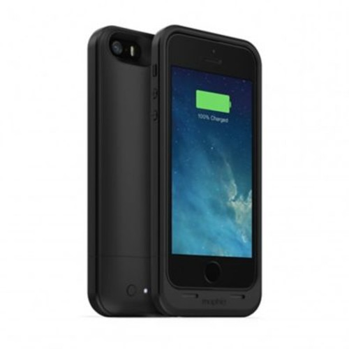 mophie Juice Pack Air Rechargeable Battery Case for iPhone SE/5s/5, 1700 mAh, Black (2105)