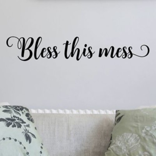 Belvedere Designs LLC Bless This Mess Quotes Wall Decal