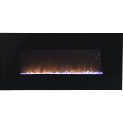 FLAMELUX Paris 41 in. Wall-Mount Electric Fireplace with Remote in Black