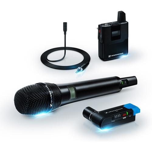 AVX Camera-Mountable Digital Wireless Handheld and Lavalier Set