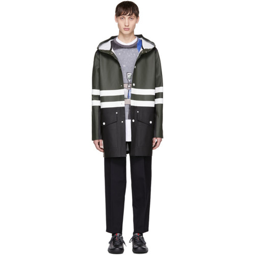 MARNI Green & Black Stutterheim Edition Colorblock Raincoat