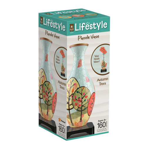 BePuzzled Lifestyle 160-Piece Autumn Trees 3D Puzzle Vase