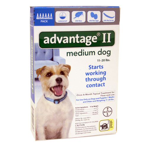 Advantage II for Dogs between 11-20 lbs 6 Month Supply