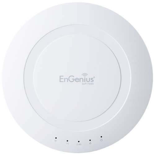 EnGenius 3x3 Dual Band Ceiling-Mount Wireless Access Point/WDS - IEEE 802.11ac, Up to 1300Mbps @ 5GHz, 28 dBm Transmit, Quantum Beam, Sector Antenna, ISM/UNII Band, Fast/Gigabit Ethernet - EAP1750H