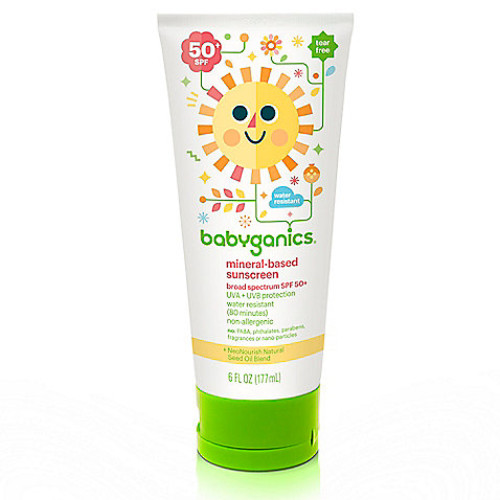 Babyganics 6 oz. 50+ SPF Mineral-Based Sunscreen