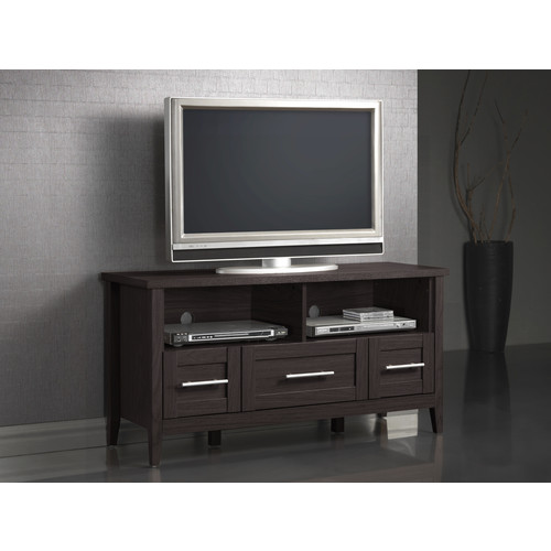 Baxton Studio Cascadia Espresso Finished 3-Drawer TV Stand