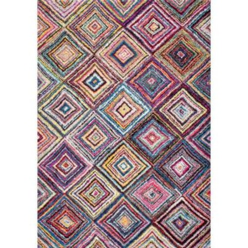 nuLOOM Jenise Squares Multi 5 ft. x 8 ft. Area Rug