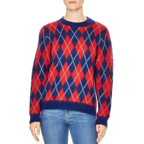 SANDRO Jona Argyle Sweater