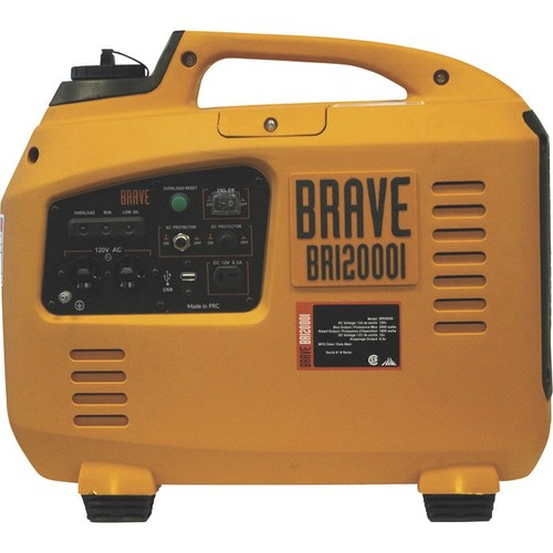 Brave Portable Inverter Generator  2000 Surge Watts, 1600 Rated Watts, EPA and CARB Compliant,