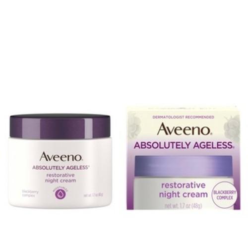 Aveeno Absolutely Ageless Restorative Facial Anti-Aging Night Cream - 1.7oz