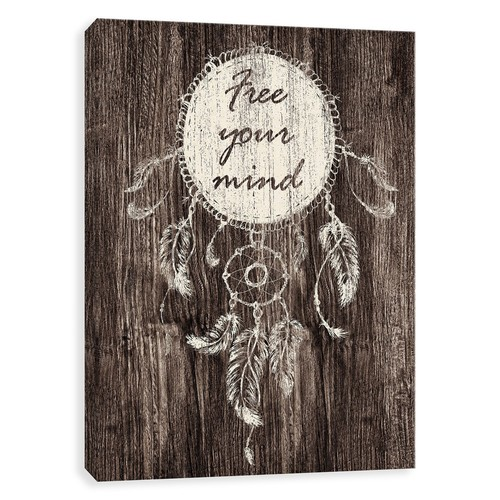 Printed Canvas Free Your Mind Canvas Print - 11x14