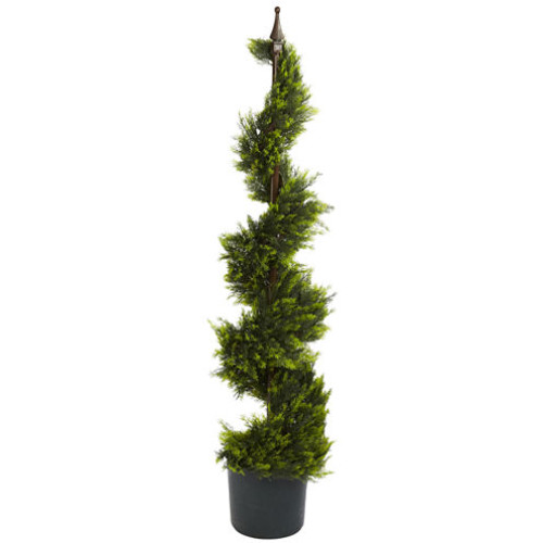 Nearly Natural 4-ft. Cypress Spiral Silk Tree