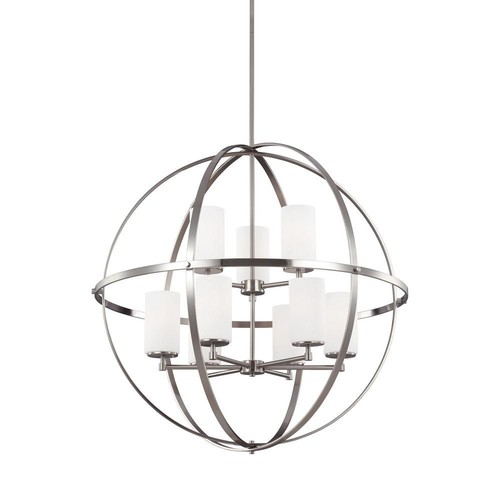 Sea Gull Lighting Alturas 9-Light Brushed Nickel Multi Tier Chandelier