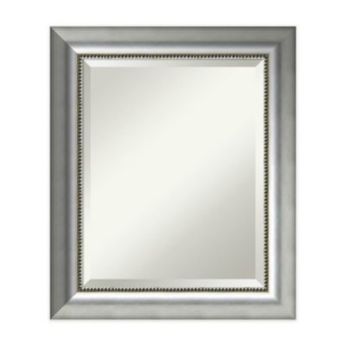 Amanti Art Vegas Curved 29-Inch x 41-Inch Wall Mirror in Burnished Silver