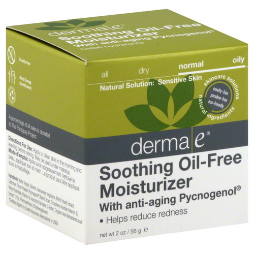 Derma E Natural Skincare Soothing Oil Free Moisturizer, 2 ounces