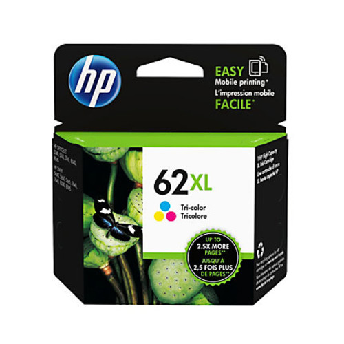 HP 62XL Tri-color High Yield Original Ink Cartridge (C2P07AN)
