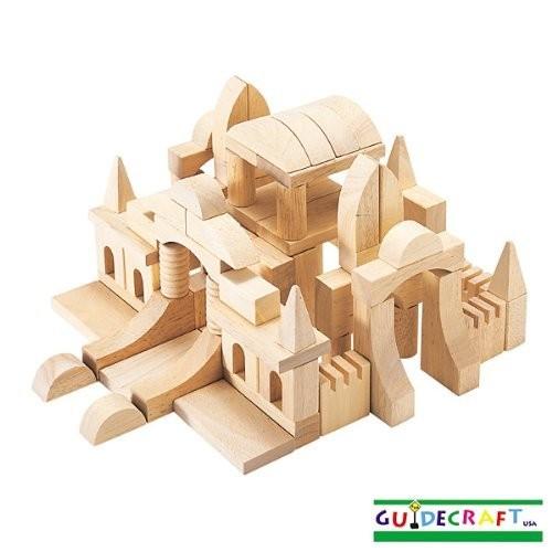Guidecraft Tabletop Start Building Blocks Set [Multicolor, None]