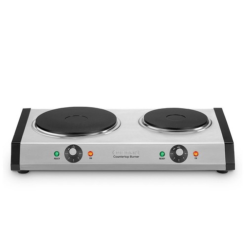 Cuisinart Cast Iron Double Burner in Silver