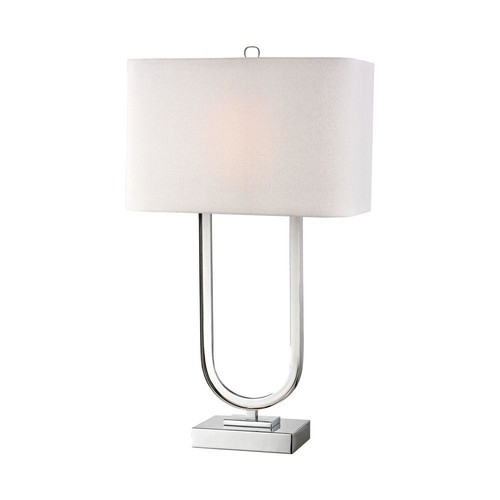 Titan Lighting 32 in. Polished Chrome Modern Triumphal Table Lamp