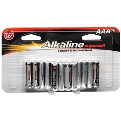 Walgreens Alkaline Supercell Batteries, AAA 16 ea