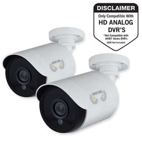 Night Owl 1080p Analog Bullet Cameras, 2 pk. - White