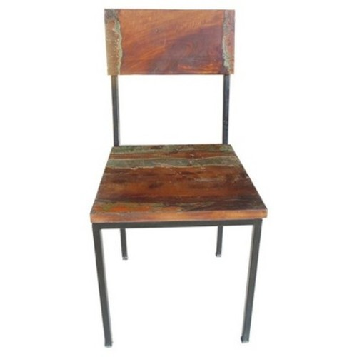 Reclaimed Wood and Metal Chair - (Set of 2) - Timbergirl