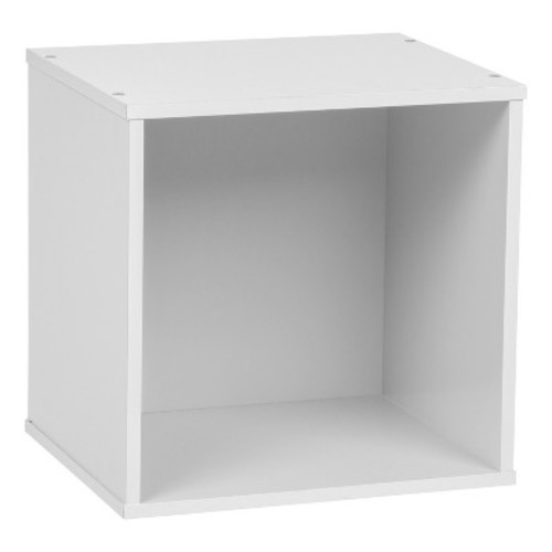 IRIS Baku Wood Storage Cube Box - White